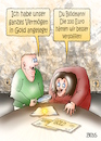 Cartoon: Geldanlage (small) by besscartoon tagged geld,euro,finanzen,gold,geldanlage,inflation,vermögen,arm,reich,armut,paar,ehe,beziehung,saufen,alkohol,bess,besscartoon