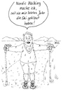 Cartoon: Nordic Walking (small) by besscartoon tagged nordic,walking,sport,ski,skifahren,diebstahl,bess,besscartoon