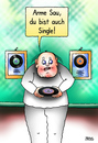 Cartoon: Single (small) by besscartoon tagged mann,single,schallplatte,arme,sau,bess,besscartoon
