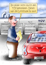 Cartoon: TÜV (small) by besscartoon tagged mann,tüv,auto,automobil,lichthupe,sicherheit,bess,besscartoon