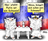 Cartoon: Zeitungslektüre (small) by besscartoon tagged putin,russland,zeitung,lesen,frau,mann,konflikt,ukraine,schwein,schwanz,kringeln,bess,besscartoon