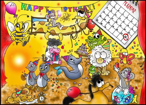 Cartoon: Birthday Party (medium) by mEiKe tagged bday,
