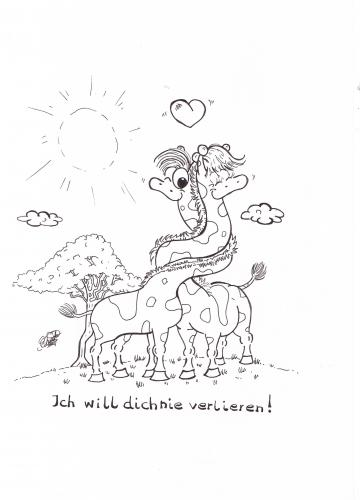 Cartoon: Giraffen (medium) by mEiKe tagged giraffen