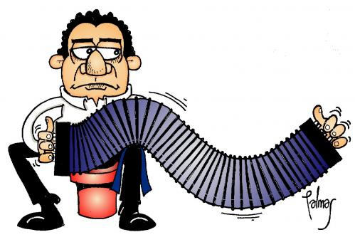 Cartoon: Bandoneon (medium) by Palmas tagged musica