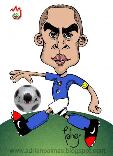 Cartoon: Cannavaro (medium) by Palmas tagged caricatura