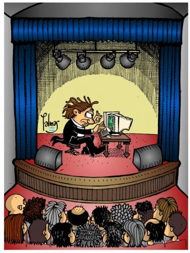 Cartoon: In Concert (medium) by Palmas tagged cultura