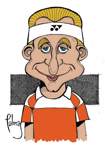 Cartoon: Nalbandian (medium) by Palmas tagged deporte