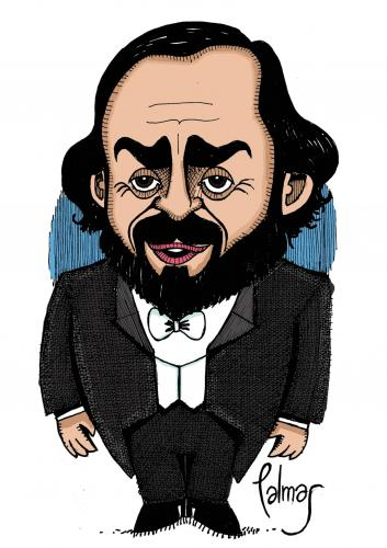 Cartoon: Pavarotti (medium) by Palmas tagged musica