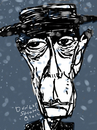 Cartoon: Buster Keaton (small) by Dunlap-Shohl tagged buster,keaton