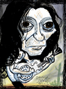 Cartoon: Chris Whitley (small) by Dunlap-Shohl tagged rock,blues,texas