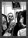 Cartoon: Dance of Death 3- Checking Out (small) by Dunlap-Shohl tagged dance,death,checkout