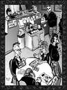 Cartoon: Dance of death 6 (small) by Dunlap-Shohl tagged death,dance,coffee,cafe