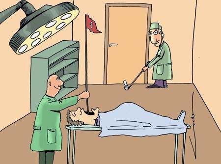 Cartoon: golf doc (medium) by lucholuna tagged doctors