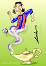 Cartoon: messi (small) by lucholuna tagged messi,barcelona