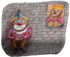 Cartoon: King and Clown (small) by Osama Salti tagged king,clown,smile,sadness,happiness,bad,good,leader,people