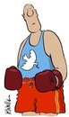 Cartoon: boxing for peace (small) by penwill tagged boxing,peace,sport,dove