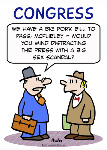 Cartoon: 1bigsexscandal (medium) by rmay tagged big,scandal,distract,press,congress