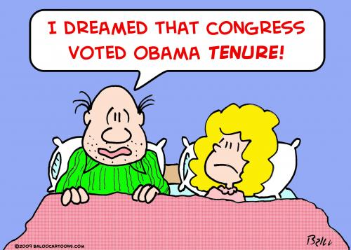 Cartoon: 1congress voted obama tenure (medium) by rmay tagged congress,voted,obama,tenure