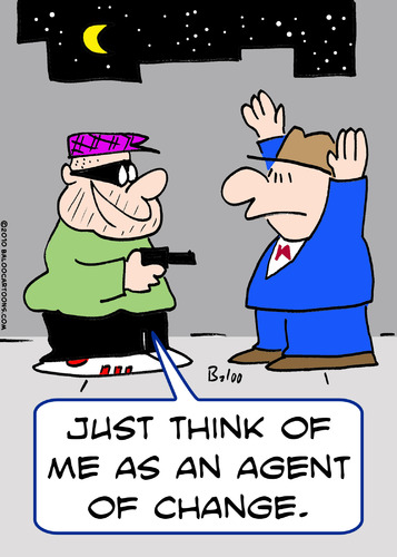 Cartoon: agent of change mugger (medium) by rmay tagged agent,of,change,mugger
