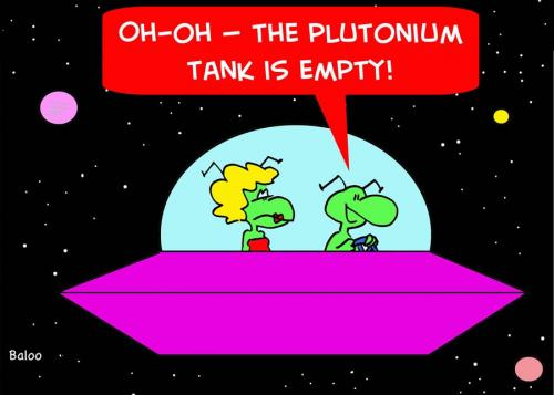 Cartoon: ALIENS DATING PLUTONIUM EMPTY (medium) by rmay tagged aliens,dating,plutonium,empty