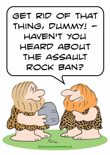 Cartoon: assault rock ban cavemen caveman (medium) by rmay tagged assault,rock,ban,cavemen,caveman