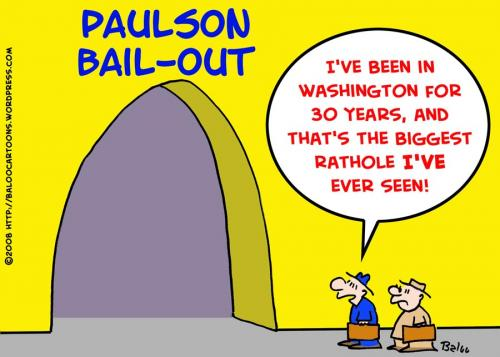 Cartoon: BAIL-OUT BANKS MORTGAGES PAULSON (medium) by rmay tagged bail,out,banks,mortgages,paulson,congress,economy,crisis