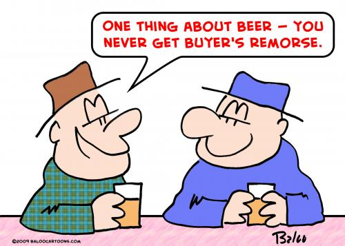 Cartoon: beer buyers remorse (medium) by rmay tagged beer,buyers,remorse