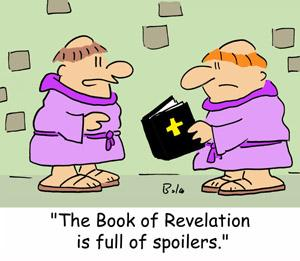 Cartoon: Book of Revelations (medium) by rmay tagged spoilers,religion,monks