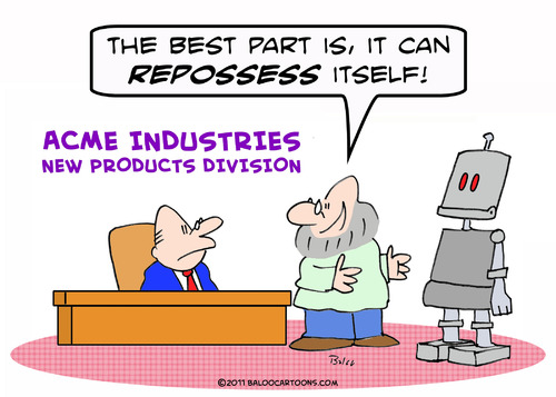 Cartoon: can repossess itself robot (medium) by rmay tagged can,repossess,itself,robot