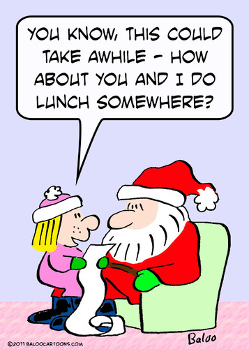 Cartoon: christmas do lunch somewhere (medium) by rmay tagged christmas,do,lunch,somewhere
