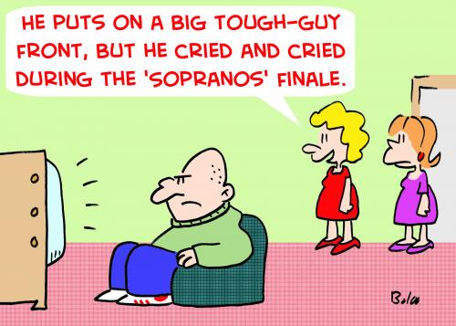 Cartoon: CRIED DURING SOPRANOS FINALE (medium) by rmay tagged cried,during,sopranos,finale