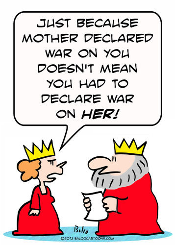 Cartoon: declare war king queen (medium) by rmay tagged declare,war,king,queen