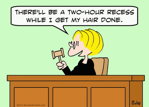 Cartoon: get hair done judge recess (medium) by rmay tagged get,hair,done,judge,recess