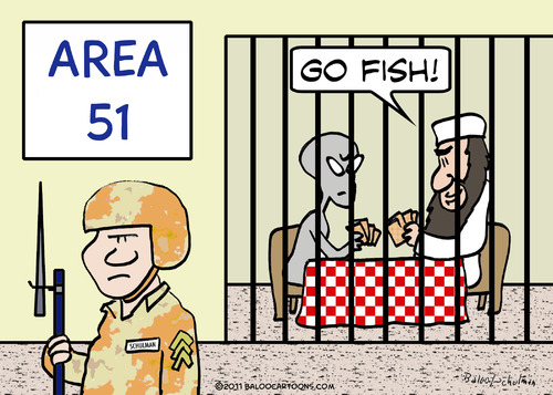 Cartoon: go fish area 21 osama (medium) by rmay tagged go,fish,area,21,osama