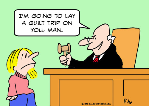 Cartoon: guilt trip judge (medium) by rmay tagged guilt,trip,judge