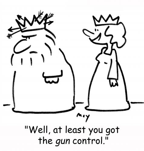Cartoon: gun control (medium) by rmay tagged gun,control