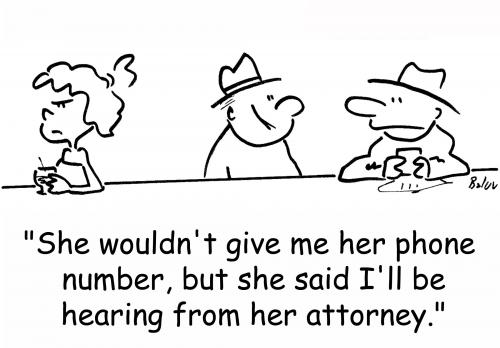 Cartoon: hearing from her attorney (medium) by rmay tagged hearing,from,her,attorney