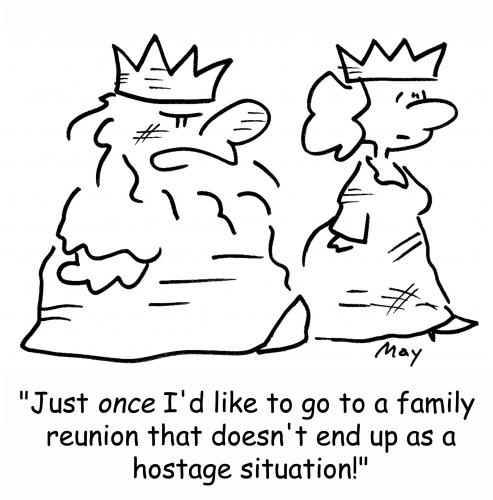 Cartoon: Hostage Situation (medium) by rmay tagged hostage,situation,king,queen
