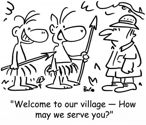Cartoon: how may we serve you? (medium) by rmay tagged how,may,we,serve,you