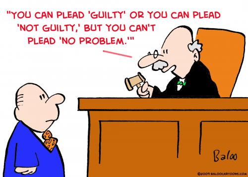 Cartoon: judge no problem (medium) by rmay tagged judge,no,problem