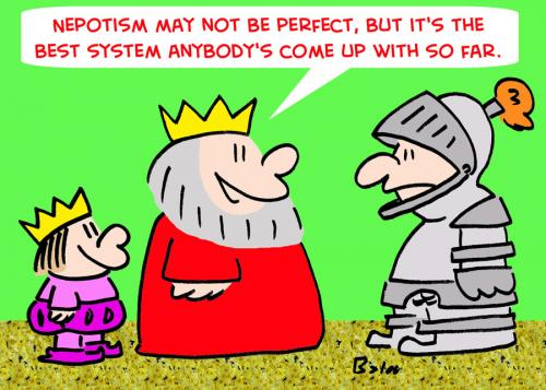Cartoon: KING PRINCE NEPOTISM (medium) by rmay tagged king,prince,nepotism