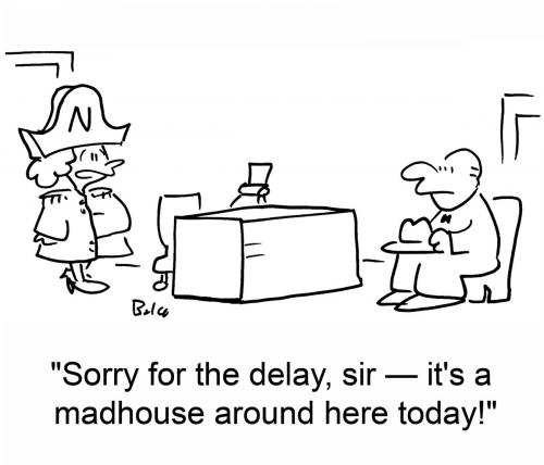 Cartoon: madhouse (medium) by rmay tagged napoleon,madhouse