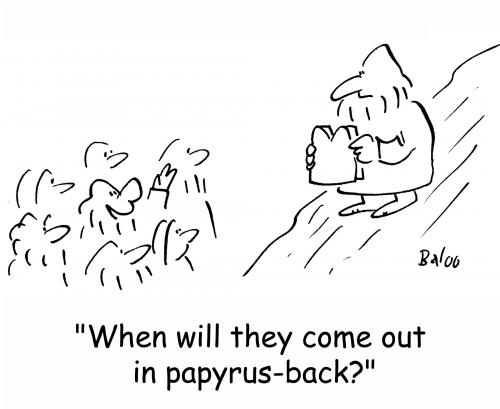 Cartoon: Moses papyrus (medium) by rmay tagged moses,papyrus