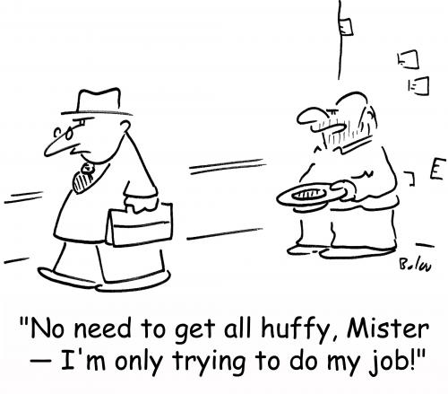 Cartoon: trying to do my job (medium) by rmay tagged trying,to,do,my,job