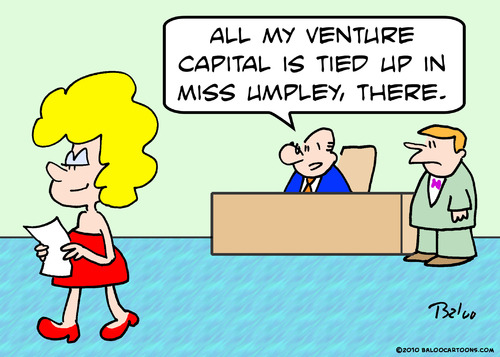 Cartoon: venture capital tied up (medium) by rmay tagged venture,capital,tied,up