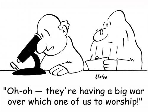 Cartoon: which one to worship (medium) by rmay tagged which,one,to,worship