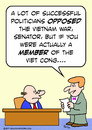 Cartoon: Actually a member of the Viet Co (small) by rmay tagged viet,nam,cong,member,senator,war,opposed