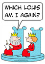 Cartoon: am i which louis king queen (small) by rmay tagged am,which,louis,king,queen