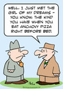 Cartoon: anchovy pizza girl dreams (small) by rmay tagged anchovy,pizza,girl,dreams