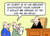 Cartoon: as adult judge try second childh (small) by rmay tagged as,adult,judge,try,second,childh